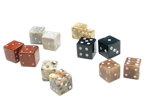 GEMSTONE DICE (pair)