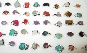 GEMSTONE RINGS (5 to 50, Randomly Chosen)